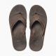 Lærtonger i mørkebrunt med anatomiske såler - VOYAGE LUX DARK BROWN