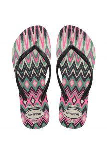 SLIM TRIBAL WHITE-BLACK-PINK