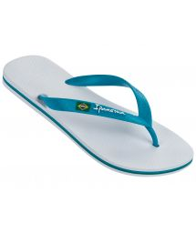 White Flip Flops - Ipanema Classica Brasil II Ad White/Blue