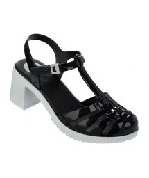 Flip-Flops - Dream II Sandal Fem Black/White