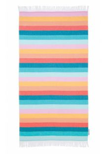Fouta beach towel with colorful stripes - FOUTA TOWEL ISLABOMBA