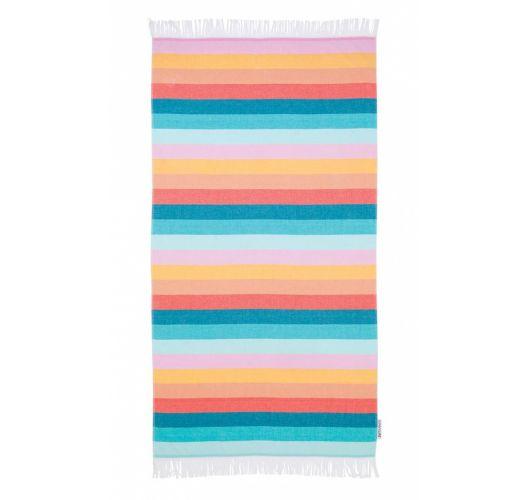 Fouta beach towel with colorful stripes - FOUTA TOWEL ISLABOMBA