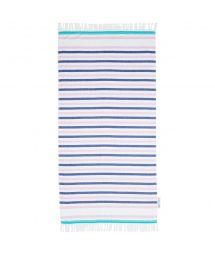 Striped fringed Fouta beach towel - MANYANA