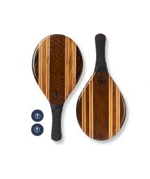 Set of wooden beach bats - black - LEBLON BEACH BAT BLACK
