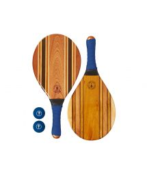 Set of wooden beach bats - blue - LEBLON BEACH BAT BLUE