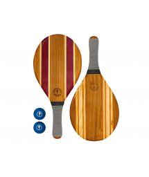 Set med trä strandracketar - grå - LEBLON BEACH BAT GREY