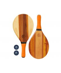 Set of wooden beach bats - orange - TRANCOSO BEACH BAT ORANGE