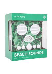 Tropical design smartphone compatible portable radio - BEACH SOUNDS BANANA PALM