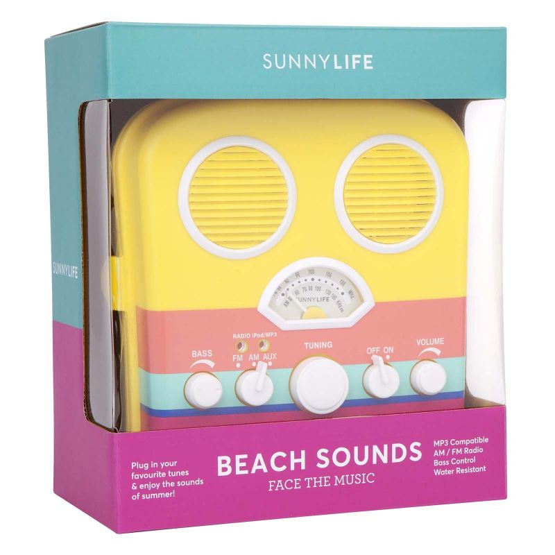 Colourful smartphone compatible portable radio - BEACH SOUNDS HAVANA