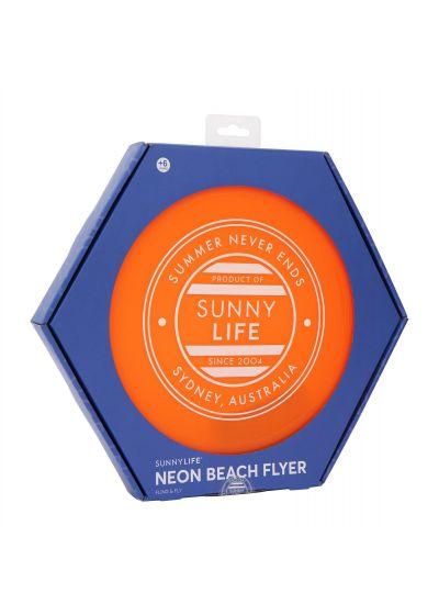 Neopren frisbee 26cm - orange neon - BEACH FLYER NEON ORANGE
