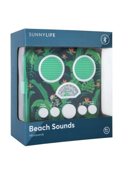 Smartphone compatible green portable radio - BEACH SOUNDS MONTEVERDE