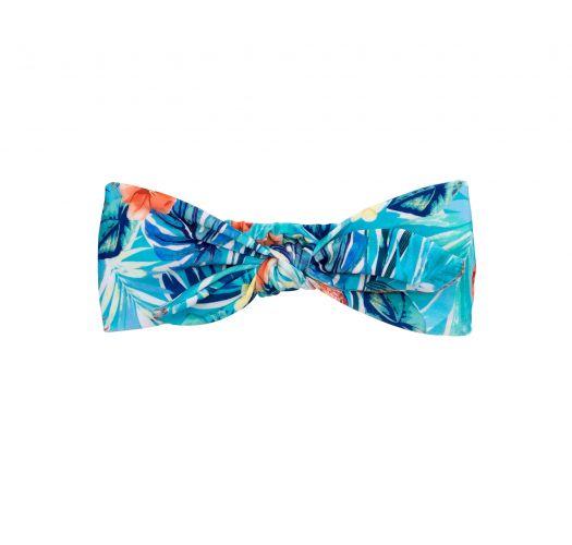 Headband avec nœud bleu fleuri - ISLA KNOT HEADBAND
