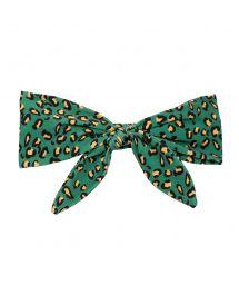 Headband with green leopard print bow - ROAR-GREEN KNOT HEADBAND