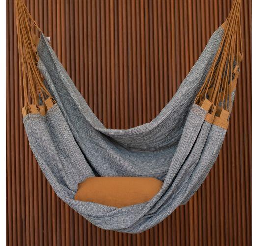 Hammock chair in denim fabric - recycled - CADEIRA SEM ESTOFADO