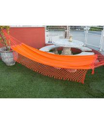 Orange denim hammock with braided fringes 4M x 1,6M - SOL A SOL LMC LARANJA