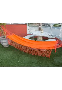 Orange denim hammock with braided fringes 4M x 1,6M - SOL A SOL LMC LARANJA