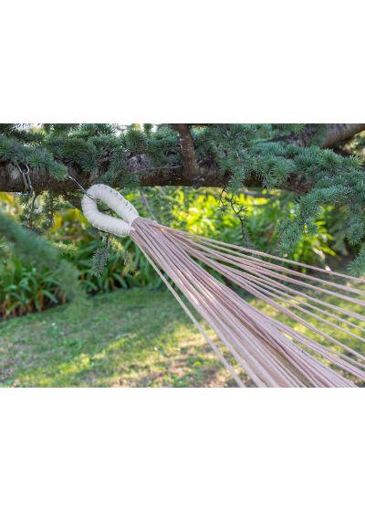 Organisk flätad bomullshängmatta med pompoms 3,85M x 1,7M - TRECE CASAL ORGANIC