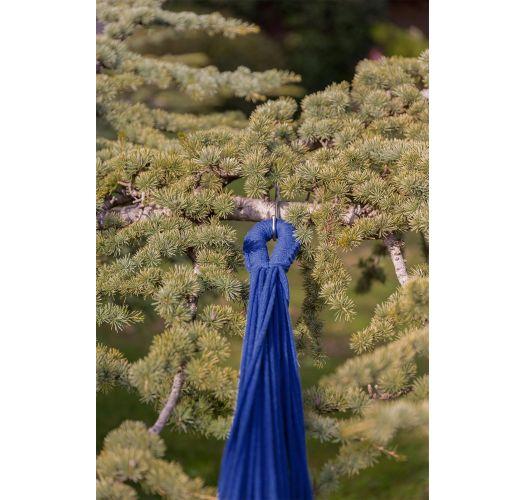 Blue cotton hammock with macrame 4,2M x 1,6M - XINGU ML AZUL