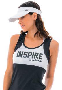 White sport sun visor with logo - VISEIRA SPORTY BRANCO