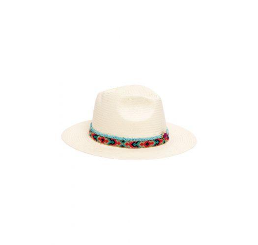 White straw hat with Brazilian belt - SAMBA WHITE