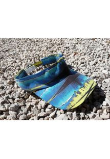 Blue and yellow sun visor - VISEIRA LIGHT AZUL