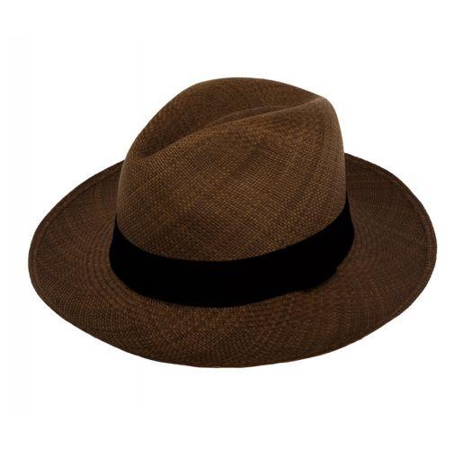 Ekte Panamahatt, brune Toquilla-strå - PANAMA BROWN