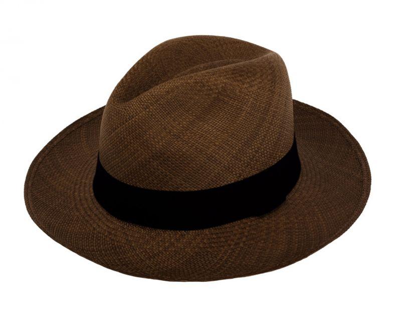 Genuine brown Panama hat made from toquilla straw - PANAMA BROWN