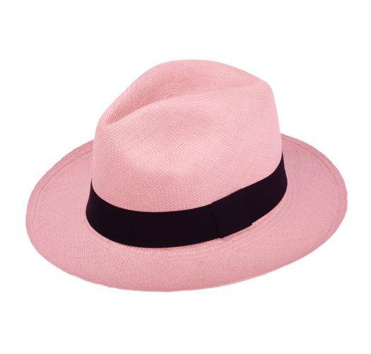 Genuine light pink Panama hat made from toquilla straw - PANAMA ROSE