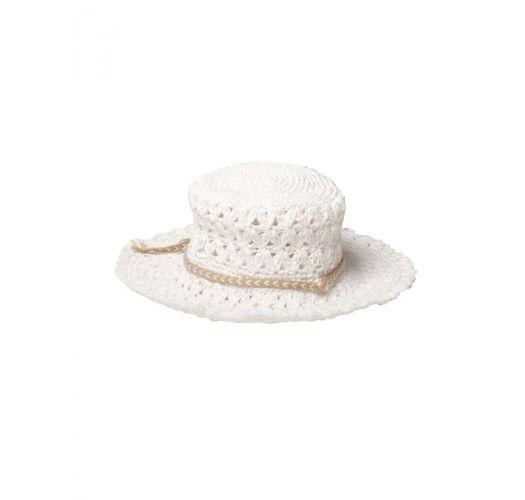 Weiße Häkelmütze - WHITE CROCHET HAT