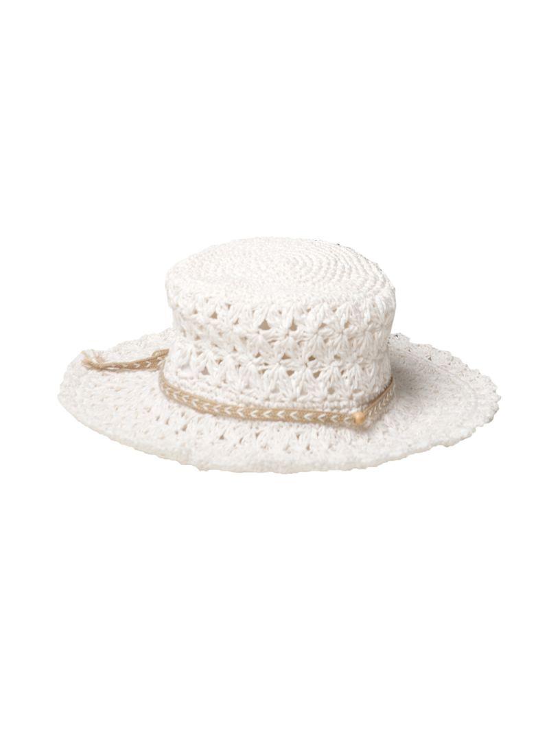 White crochet hat - WHITE CROCHET HAT