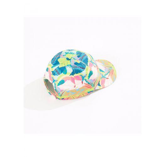 Capé med pastellfärgat tropiskt tryck - BONE GALEGO TROPICAL