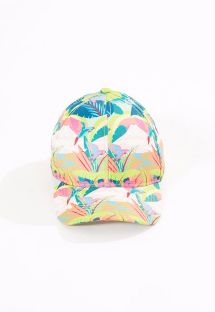 Cap with tropical pastel print - BONE GALEGO TROPICAL