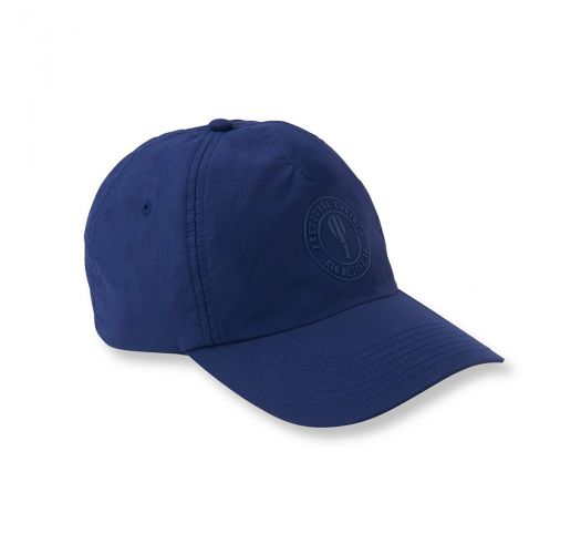 Marineblaue Mütze mit besticktem Logo - CAP NAVY BLUE