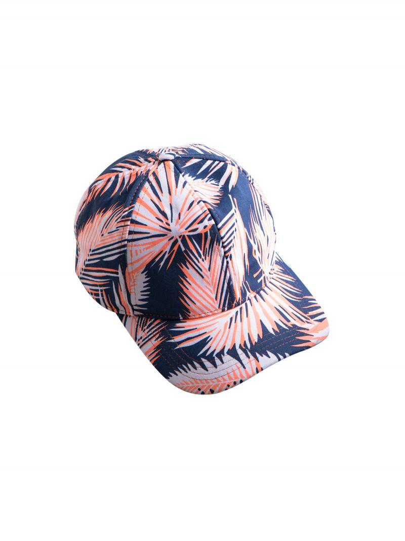 Colourful palm leaf print cap - AMAZON CAP