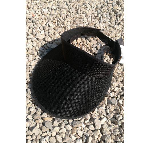 Visiera nera con banda elastica - VISEIRA BLACK