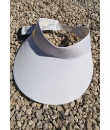White visor cap with elastic band - VISEIRA BRANCA