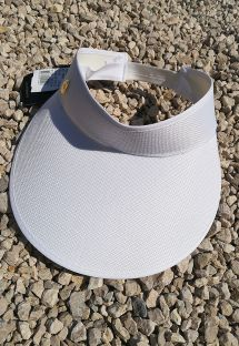 White visor cap with elastic band - VISEIRA BRANCA