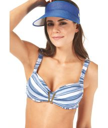 Blue visor cap with elastic band - VISEIRA COM ELASTICO