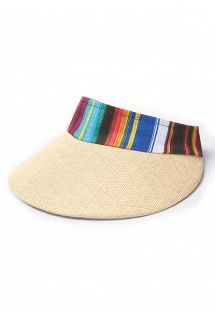 Striped straw visor cap - VISEIRA ESTAMPADO