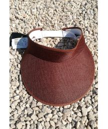 Brown visor cap with elastic band - VISEIRA MARROM