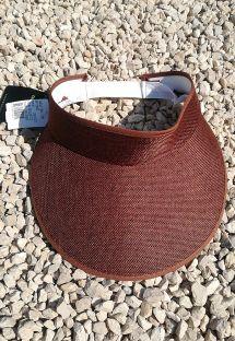 Braune Schirmmütze mit elastischem Band - VISEIRA MARROM