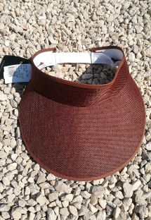Visiera marrone con banda elastica - VISEIRA MARROM