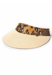 Animal print straw visor cap - VISEIRA PALHA