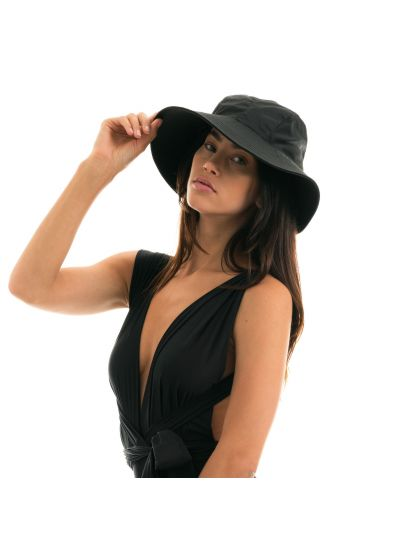 Black hat with a tied bow - CHAPEAU MONACO PRETO