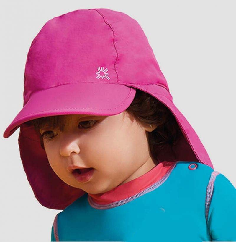 Baby pink cap with neck protection - SPF50 - BONÉ BABY LEGIONÁRIO ROSA - SOLAR PROTECTION UV.LINE