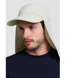 Beige cap with neck protection - SPF50 - BONÉ LEGIONÁRIO AREIA - SOLAR PROTECTION UV.LINE