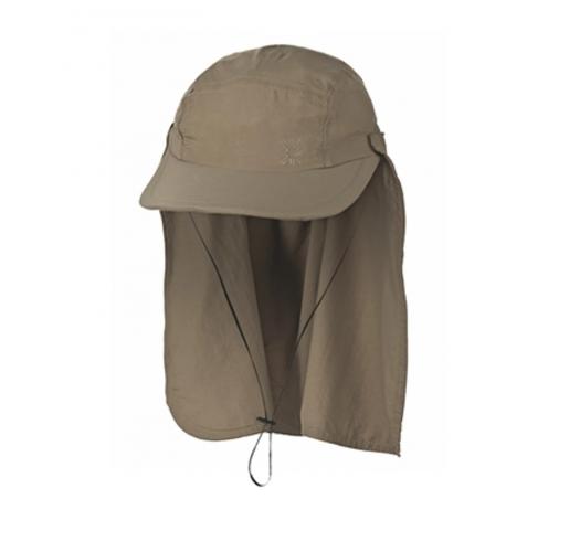 SPF50のネック保護が付いたカーキ色キャップ - BON�LEGION�IO KAKI - SOLAR PROTECTION UV.LINE