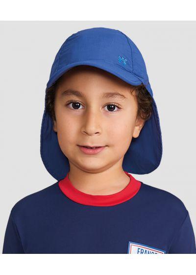 Kids navy cap with neck protection - SPF50 - BONÉ LEGIONÁRIO MARINHO - SOLAR PROTECTION UV.LINE