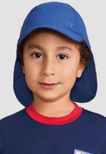 Blaue Kinder-Legionärsmütze mit Nackenschutz - BONÉ LEGIONÁRIO MARINHO - SOLAR PROTECTION UV.LINE