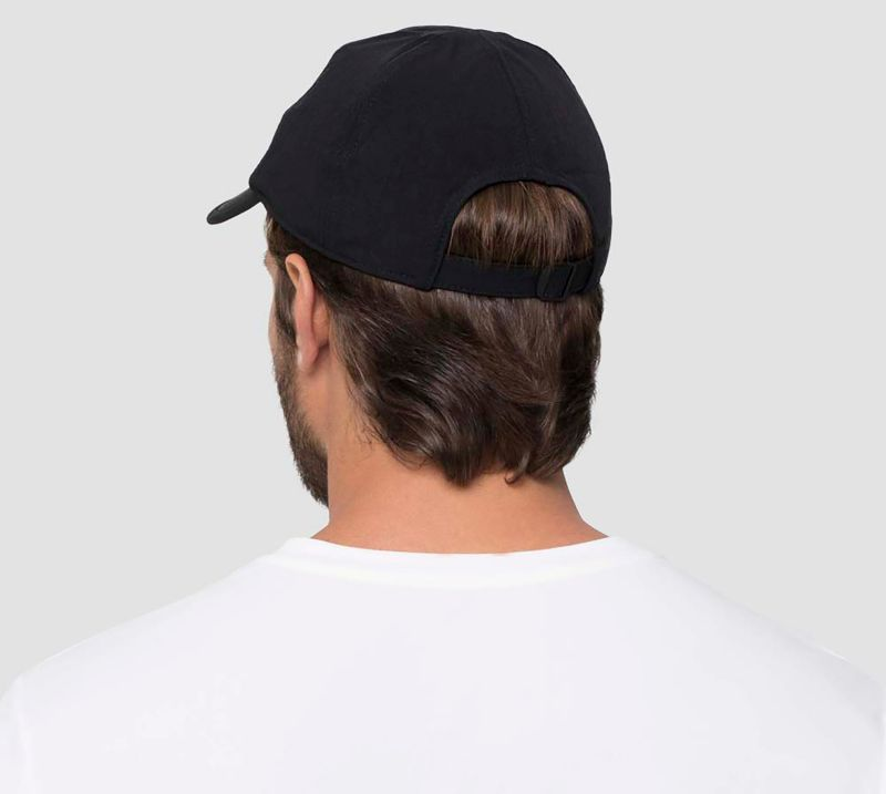 Adjustable men black cap - UPF50 - BONÉ PRETO - SOLAR PROTECTION UV.LINE